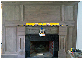 maple mantle with photo