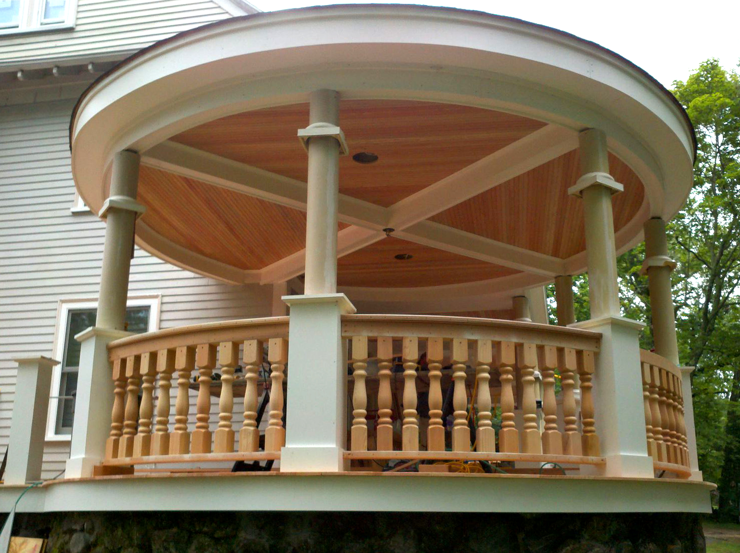 porch cupola after